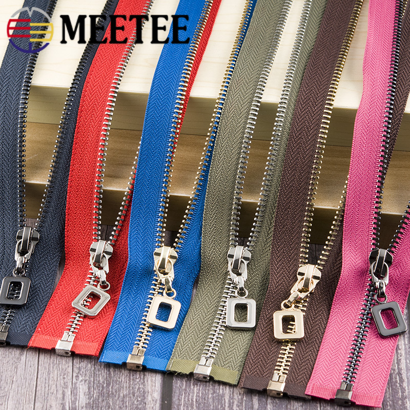 1Pc 85cm Open end Metal Zippers Auto Lock 5 Down Jacket Coat Skirt Zipper for Sewing Zip Repair Kits DIY Garment Accessories in Zippers from Home Garden