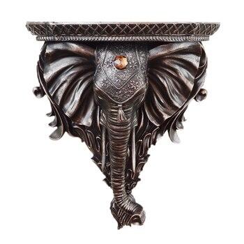 유럽 크리 에이 티브 수지 코끼리 인형 벽 선반 장식 스토리지 랙 홈 벽 교수형 배경 장식 공예 선물