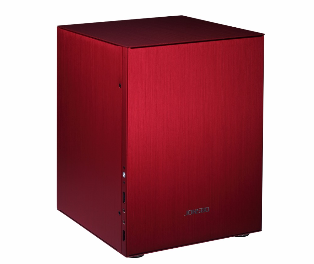 Computer case Jonsbo C2 RED Aluminum ITX Chassis Support  big power supply USB3.0 FORHTPC e mini training m3 computer case itx desktop power supply aluminum nobility