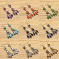 6.8cm Silver Plated, EMRALD & SAPPfIRE & Other Gems  Variation Earrings Jewelry Set