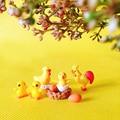 8 шт. петух курица цыплят/Животные/миниатюры/милые/Сказочный Сад/гном/Террариум с мхом Декор/ремесла/Бонсай/бутылка сад/игрушка/модель - фото