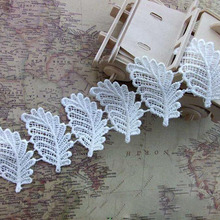 high quality water soluble 4.1cm boutique design 15 yard / lot  DIY handmade craft lace trim YY781