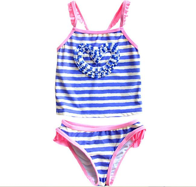 for 1 5years purple stripes peach skirt split children swimsuit baby