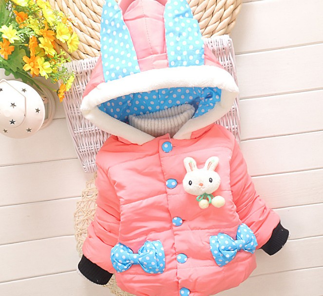 Coat Baby Winter Snow-Wear Infant Rabbit 0-24month AS002 Girl's High-Quality Cheapest