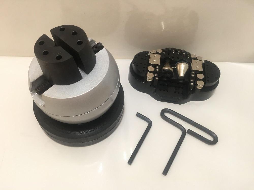 Купить с кэшбэком Standard Block Ball Vise Engraving Setting tool Full set with +30 pc Attachment