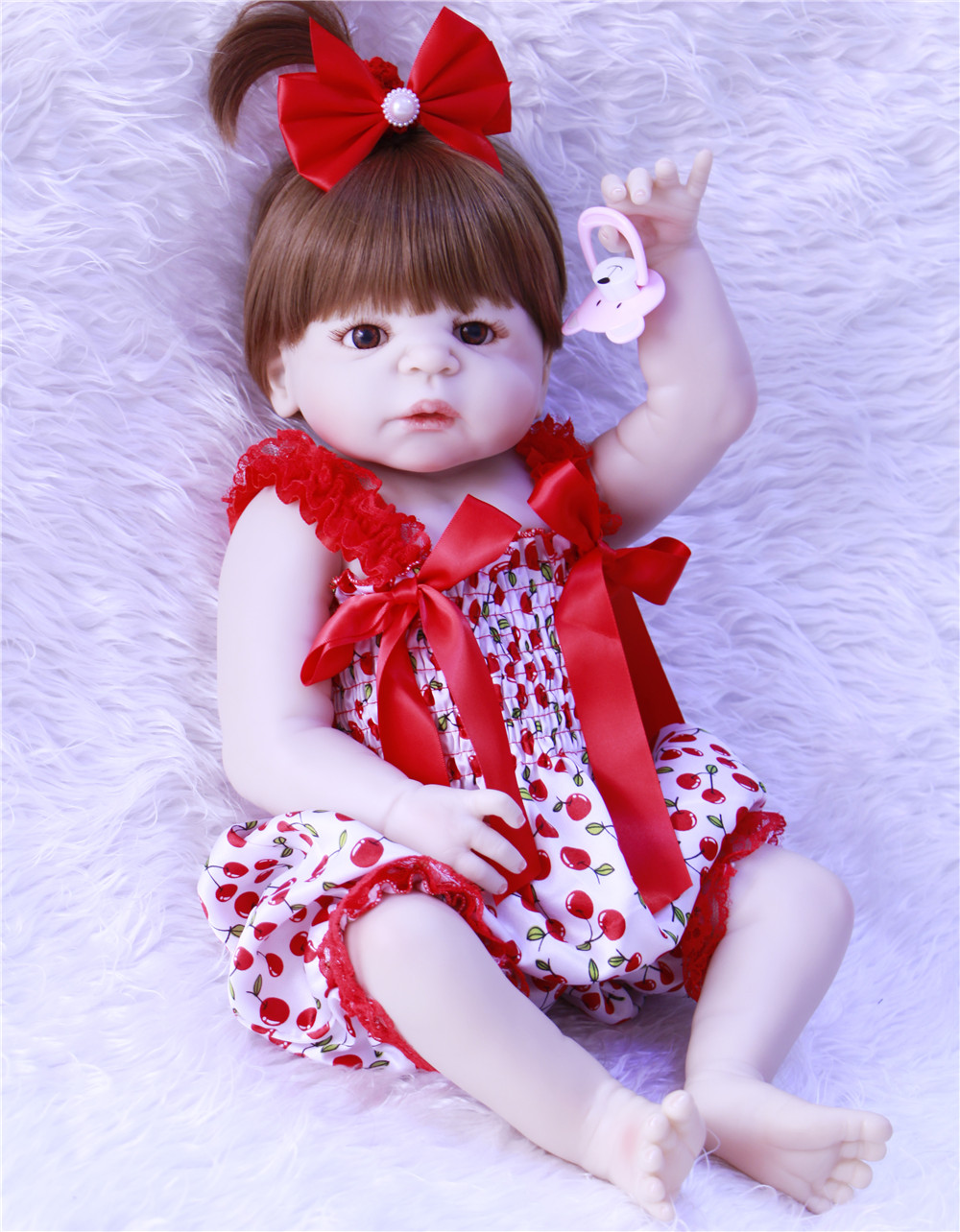 23inch/57cm White skin Baby Dolls Realistic Full Silicone Vinyl Alive Girl Doll Reborn Baby Doll For Children Gifts NPK DOLL23inch/57cm White skin Baby Dolls Realistic Full Silicone Vinyl Alive Girl Doll Reborn Baby Doll For Children Gifts NPK DOLL
