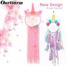 OurWarm New Style Unicorn Dreamcatcher for Girl Bedroom Wall Hanging Decoration Dream Catcher Decor