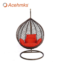 Rattan Wicker Hanging Egg Swing With Cushion Outdoor Patio Garden Chairs Cheap For Sale Factory Direct