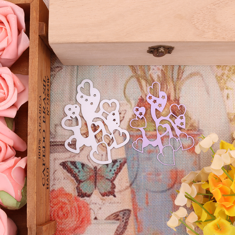 Bi fujian love flower Metal Cutting Dies Crafts Embossing Scrapbooking Dies Carbon Cuts Paper Card Stencil For book Decor