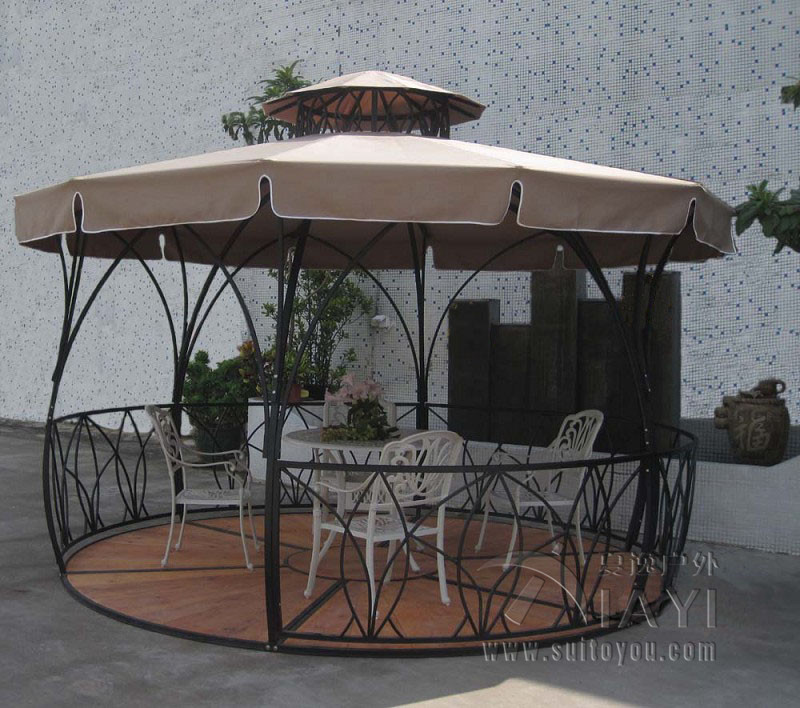 Superior Dia 3.5 Meter Metal Iron Deluxe Outdoor Pavilion Gazebos Coat Tent  Canopy For Garden Outdoor
