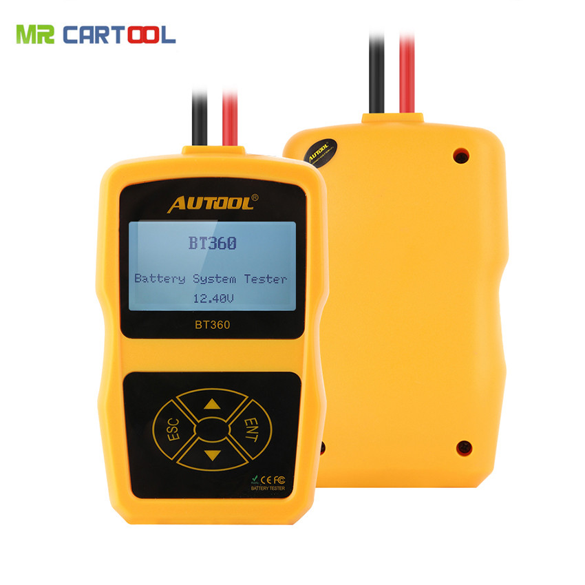 AUTOOL BT-360 BT360 12V Auto Battery Tester Car Battery Tester BT 360 High Cost Performance than bst460