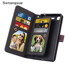 Swtengyue For Sony Xperia XZ1 case Flip Wallet Leather Multifunction Nine cards case For Sony Xperia XZ1 Compact XZ premium Case