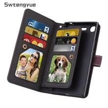 Swtengyue עבור Sony Xperia XZ1 מקרה ארנק Flip תכליתי עור תשעה כרטיסים מקרה עבור Sony Xperia XZ1 קומפקטי XZ פרימיום מקרה