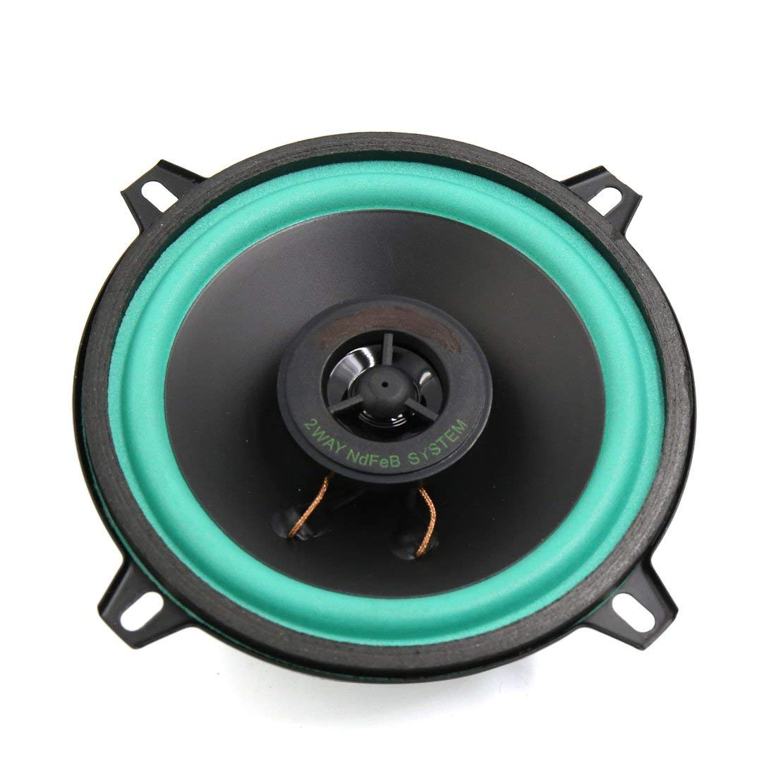 uxcell Round Shaped 100W 5 Inch Two Way Mounting Car Auto Au