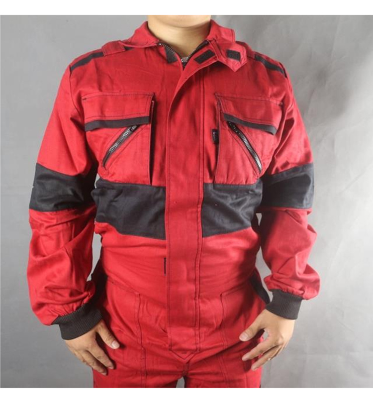 Work Coveralls Welding Fireproof Work Clothing Long Sleeve Overalls For Worker Repairman Machine Auto Repair Factory Uniforms (4)