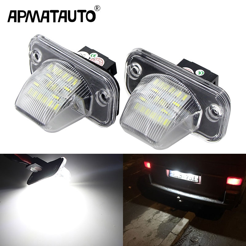 2Pcs CANbus LED License Plate Number <font><b>Light</b></font> Lamp For <font><b>VW</b></font> Transporter <font><b>T4</b></font>/Caravelle MK4/Multivan Jetta Passat B5 B6 Combi Eurova image