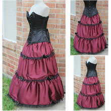1860S Victorian Corset Gothic/Civil War Southern Belle Ball Gown Dress Halloween dresses  CUSTOM MADE R537