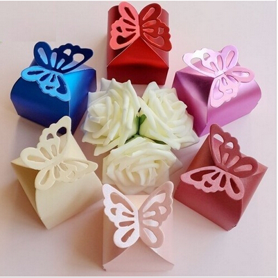 Gift Box Decoration Ideas Simple Butterfly Cand Folding Diy Butterfly Wedding Candy Box Wedding Decorating Inspiration