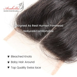 Image 5 - Brazilian Straight Lace Closure 4x4 Lace Closure Straight Remy Hair 100% Human Hair Arabella Pre Plucked Lace Closure