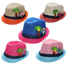 Cute Kids Hat Straw Beach Boonie Travel Leisure Brim Colourful Hat Sunshade Cap
