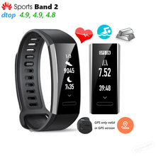 Original Huawei Sports Band 2 Smart Wristband Alloy Swimmable 5ATM 0.91″ OLED Screen Touchpad Heart Rate Monitor Push Message