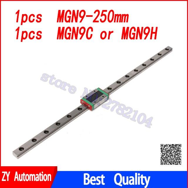 Guida lineare 9mm MGN9 250mm lineare modo ferroviario MGN9C o MGN9H Lunga trasporto lineare per Xyz di CNC asse