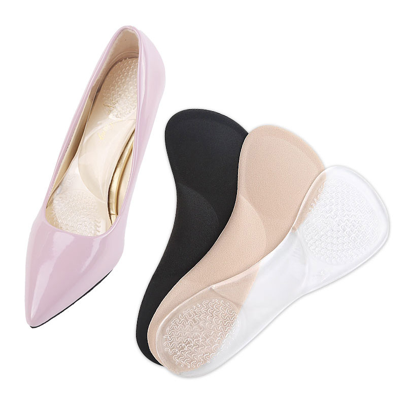Tcare Non-Slip Women Gel 3/4 length Arch Support Anti-slip Massaging Metatarsal Cushion Orthopedic Insoles for High Heels Shoes