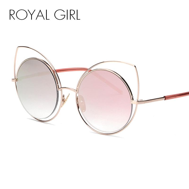 71b28e6663886 MENINA REAL Moda Espelhado Óculos de Sol Do Olho de Gato Óculos De Sol Das  Mulheres Do Vintage Senhoras Únicas Oculos ss717