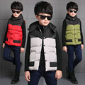 2016 Toddler Boys New Korean Style Winter Cartoon Hooded Korean Fashion Thickening Mixed Color Cardigan  Vest for Outwear