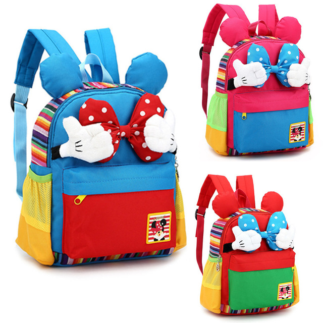 Mickey Kids School Backpack Children School Bags For Kindergarten Girls  Boys Nursery Baby Student book bag mochila infantil 7c0b8bc0903d5