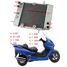 Honda скутер NSS250 REFLEX ABS 2001-2007 Двигатель мотоцикла Радиатор двигателя велосипеда алюминиевые запасные части охлаждения