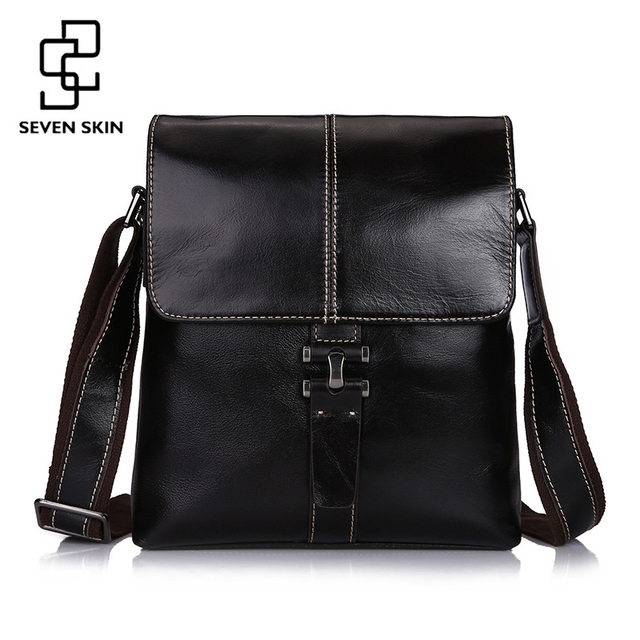 1e8d99f5fd New Men s Luxury Brand Business Messenger Bag Genuine Cowhide Leather  Shoulder Bag Male Small Briefcase with