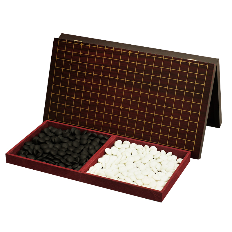 BSTFAMLY Magnetic Go Chess 19 Road 361 Pcs/Set Chinese Old Game of Go Weiqi International Checkers Folding Table Toy Gifts LB10