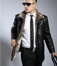 Brown black thicken plus velvet man faux leather jacket men casual fur leather jackets brand mens leather jackets and coats 3XL