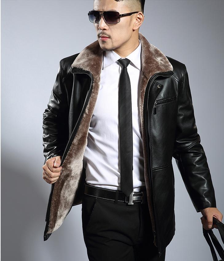 Épaissir Noir Noir Veste Manteaux Plus Homme Vestes Et Casual Fourrure Cuir Brun Hommes 3xl De marron En Mens Velours La Marque Faux byvfIgY76