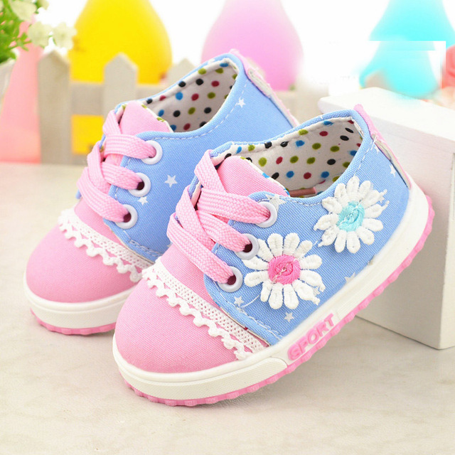 First walker 2015 new born baby girl shoes toddler girl shoes flower cotton children's footwear soft sole baby walker  booties