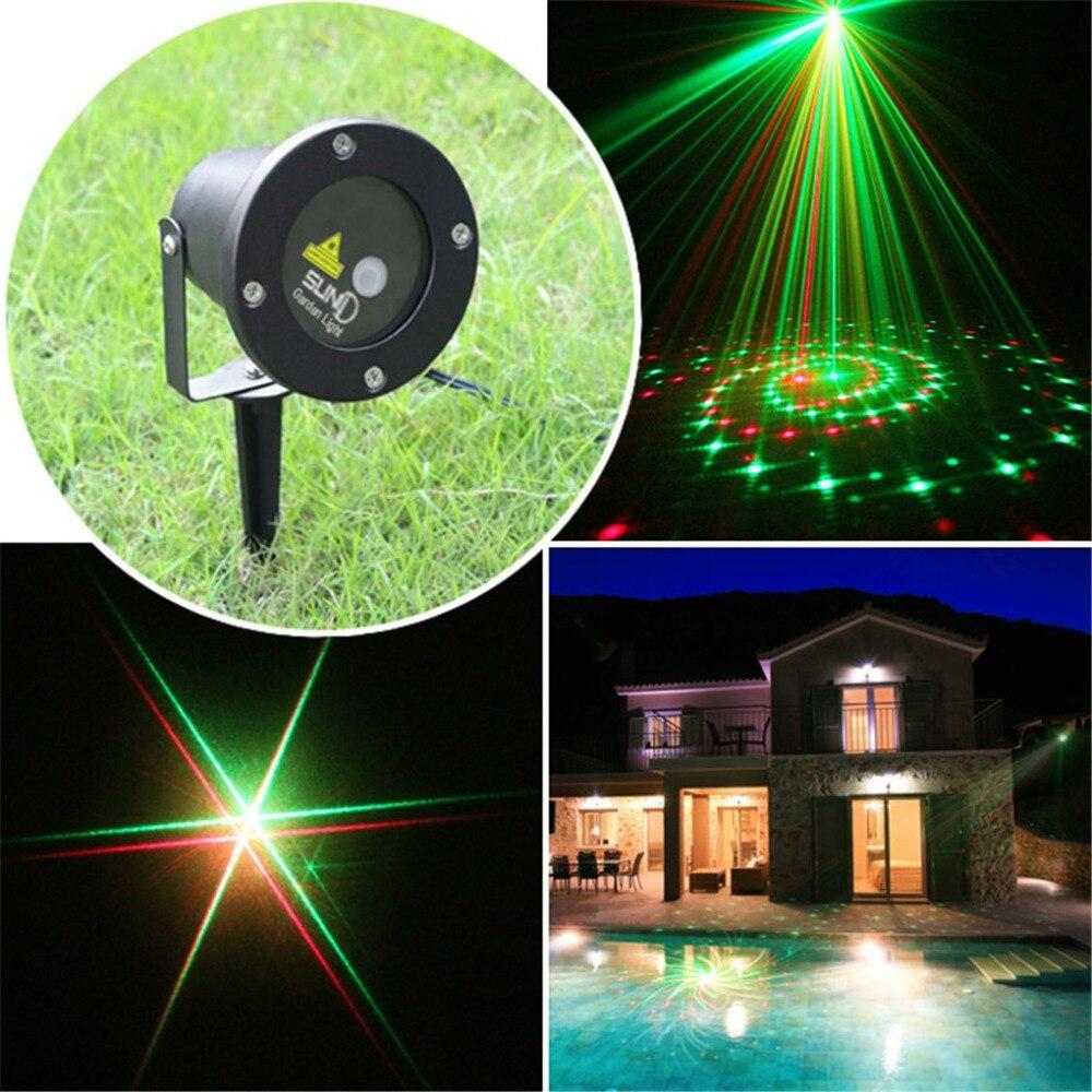 ФОТО New 2 Lens 12 Patterns Red Green IP65 Outdoor / Indoor Projector Laser Lights Landscape Garden Home Xmas Lighting GO-12RG