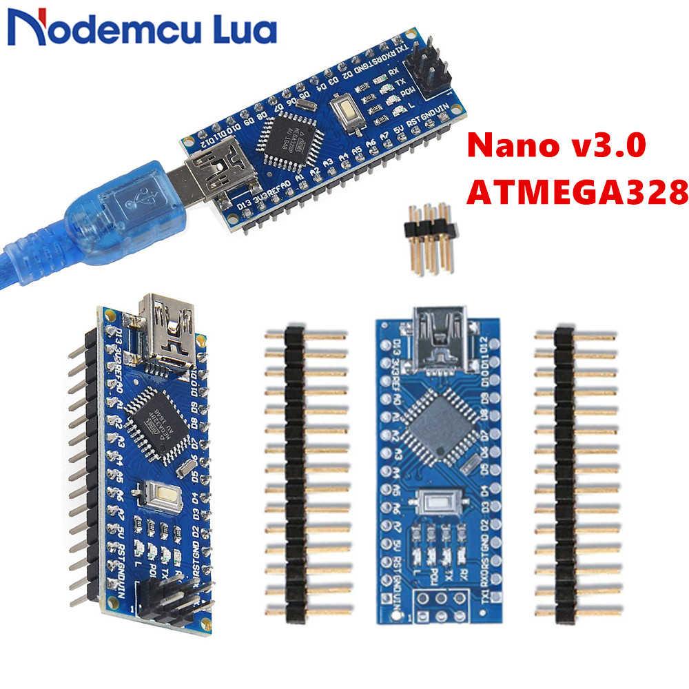 For Arduino Nano Mini USB With Bootloader for Arduino nano 3 0 controller  for Arduino CH340 USB driver 16Mhz Nano v3 0 ATMEGA328