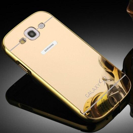 Marco de metal de aluminio + cubierta de la caja del espejo de acrílico de lujo