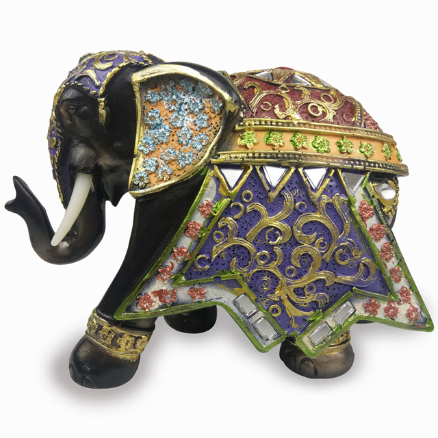 Home Decoration Accessories Lucky Elephant Statues Garden Figures