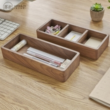 купить Walnut wood  Ash wood business card  storage box  по цене 2084.2 рублей