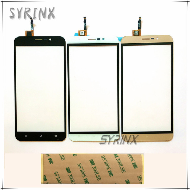 Syrinx 5.5 inch With 3M Tape Touch Screen For Cubot Dinosaur Touch Panel Digitizer Front Glass Touchscreen Sensor Free Shipping