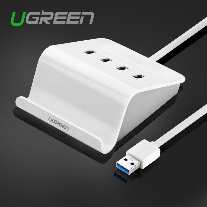 Prix pour Ugreen 4 ports usb 3.0 hub avec adaptateur d'alimentation haute vitesse otg usb splitter pour ordinateur portable de bureau smartphone et tablette