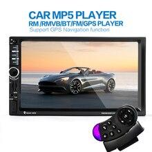 2din Neue universal Autoradio 2 din Auto Mp5 GPS Navigation In Der schlag Auto PC Stereo video Kostenlose Karte Auto elektronik