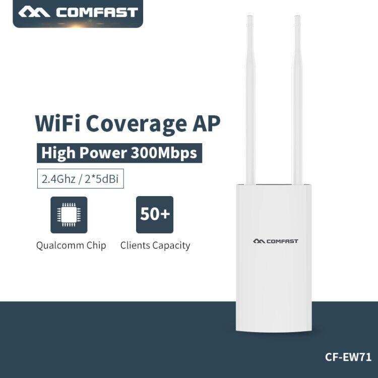 Répéteur Wifi AP Wifi extérieur haute puissance CF-EW71 2.4G 300 Mbps routeur Wifi sans fil double antenne point d'accès Wifi Extender