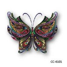 Mini Body Art Waterproof Temporary Tattoos For Men Women Butterfly Design Flash Tattoo Sticker CC6101