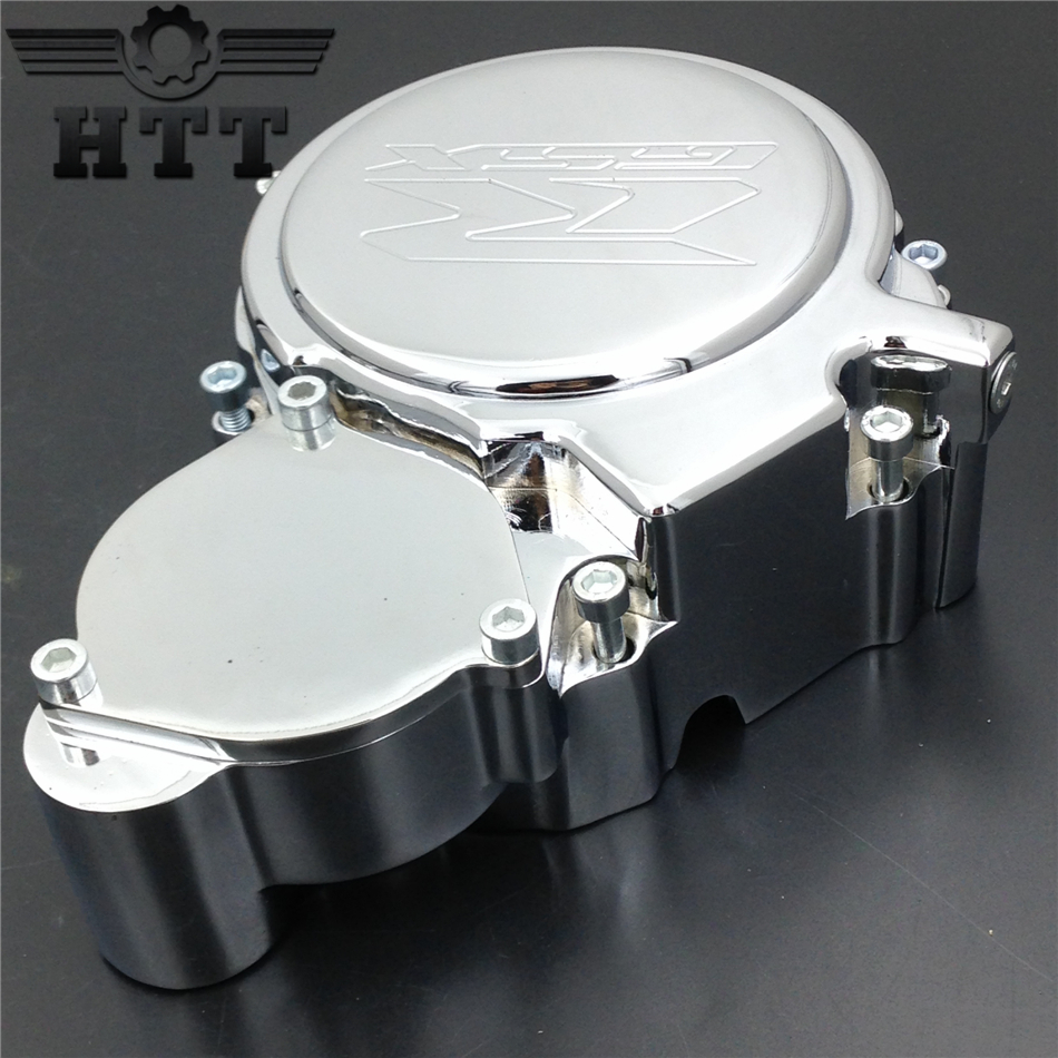 Aftermarket free shipping motorcycle parts Engine Stator cover for Suzuki GSX-R GSXR600 600 750 2006-2013 CHROME Left side engine cover set with chrome plated pull starter cylinder cover side cover screws free shipping 85108