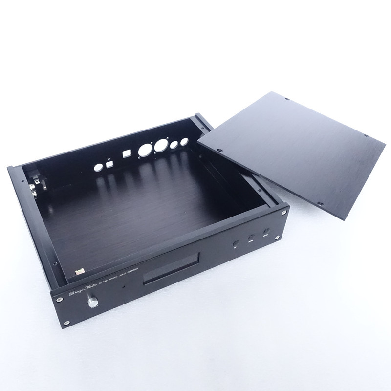 Customs Aluminum chassis case for ES9028 ES9038PRO DAC with XLR USB hole on rear plate DIY audio free shippingCustoms Aluminum chassis case for ES9028 ES9038PRO DAC with XLR USB hole on rear plate DIY audio free shipping