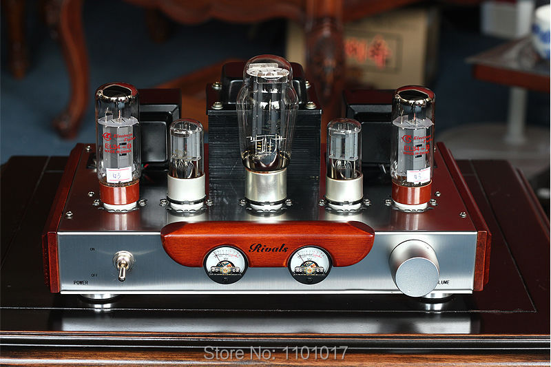 Himing Rivals RH34W EL34 Tube Amplifier HIFI EXQUIS Wood Version Single Ended integrated handmade Scaffolding Amp