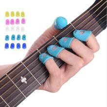 5 шт./компл. гитары с накатанной головкой выбирает палец Кепки защиты пальцев для сращивания или линия прессования эластичный силикон миниатюрная гитара укулеле-палец шляпа V529